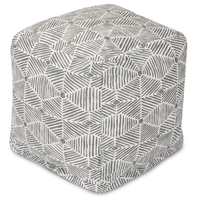 Charlie Cube Ottoman Color: Gray