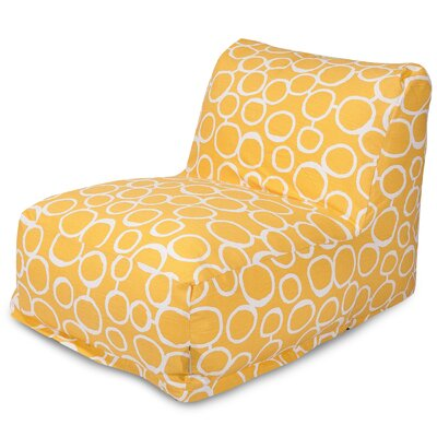 Fusion Bean Bag Lounger Color: Yellow