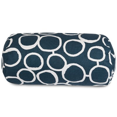 Fusion Round Bolster Pillow Color: Navy
