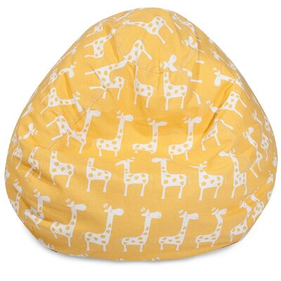 Stretch Classic Bean Bag Chair Color: Yellow