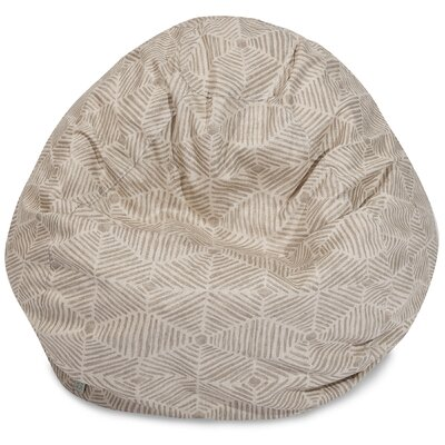 Charlie Classic Bean Bag Chair Color: Beige