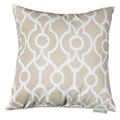 Athens Throw Pillow Size: 24 H x 24 W, Color: Sand