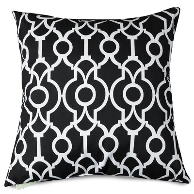 Athens Throw Pillow Size: 24 H x 24 W, Color: Black