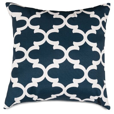 Cashwell Indoor/Outdoor Throw Pillow Color: Navy, Size: Extra Large