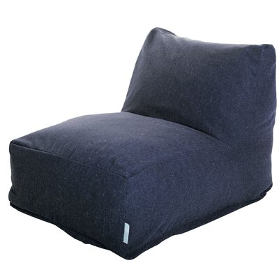 Solid Bean Bag Lounger Upholstery: Navy