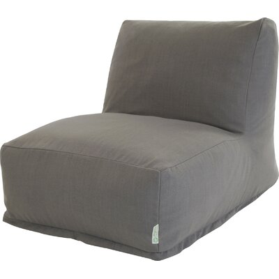 Solid Bean Bag Lounger Upholstery: Gray