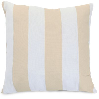 Vertical Stripe Throw Pillow Size: 24 H x 24 W, Color: Sand
