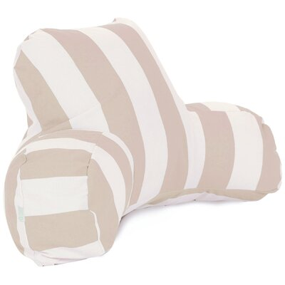 Vertical Stripe Bolster Pillow Color: Sand