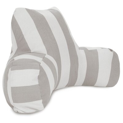 Vertical Stripe Bolster Pillow Color: Gray