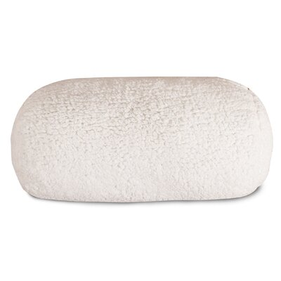 Solid Sherpa Round Bolster Pillow
