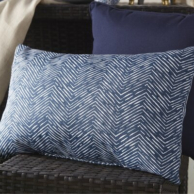 Chidi Outdoor Lumbar Pillow Fabric: Navy