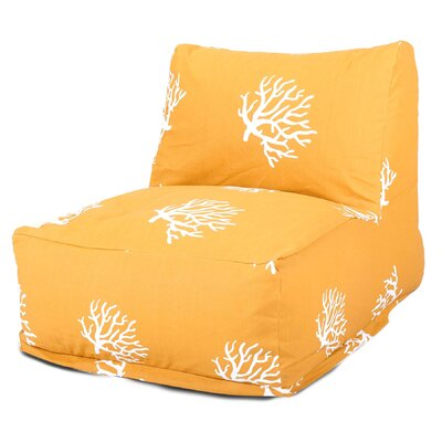 Bean Bag Lounger Upholstery: Yellow
