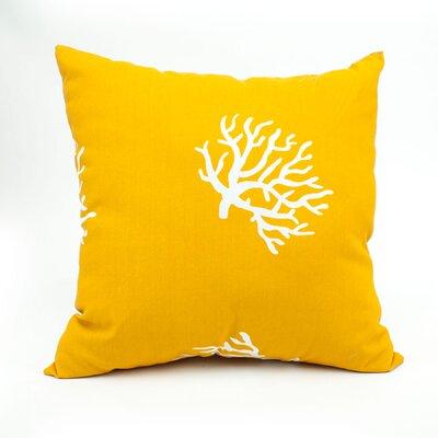 Throw Pillow Color: Yellow