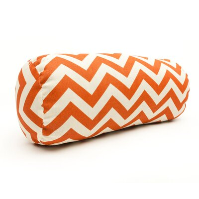 Zig Zag Bolster Pillow Color: Burnt Orange