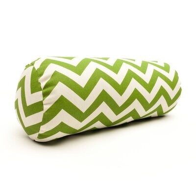 Zig Zag Bolster Pillow Color: Sage
