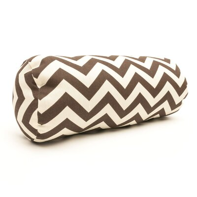 Zig Zag Bolster Pillow Color: Chocolate