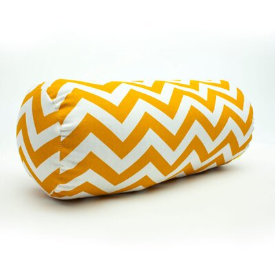Zig Zag Bolster Pillow Color: Yellow