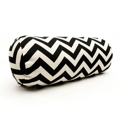 Zig Zag Bolster Pillow Color: Black