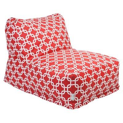 Bean Bag Lounger Upholstery: Red