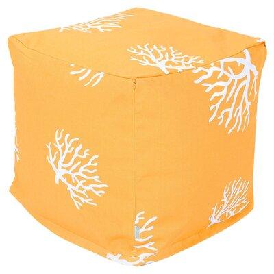 Cube Pouf Ottoman Upholstery: Yellow