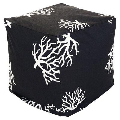 Cube Pouf Ottoman Upholstery: Black