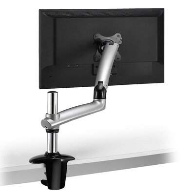Expandable Spring Arm Height Adjustable Desk Mount Base Type: Clamp, Finish: Silver