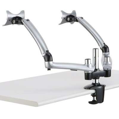 Apple Spring Arm Height Adjustable 2 Screen Desk Mount Base Type: Clamp