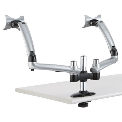 Apple Spring Arm Height Adjustable 2 Screen Desk Mount Base Type: Grommet