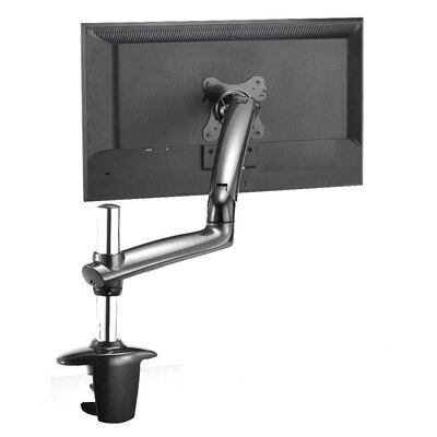 Expandable Spring Arm Height Adjustable Desk Mount Finish: Dark Gray, Base Type: Clamp