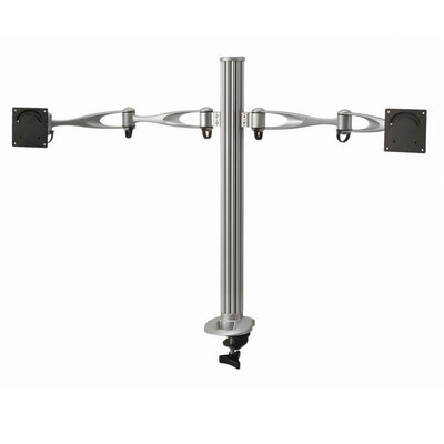 Height Adjustable 2 Screen Desktop Mount Base Type: Grommet