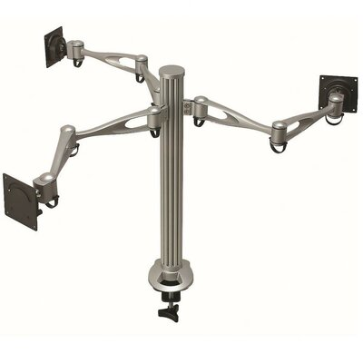 Height Adjustable 3 Screen Desk Mount Base Type: Clamp