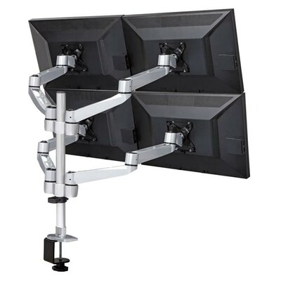 Heigh Adjustable 4 Screen Desk Mount Base Type: Grommet