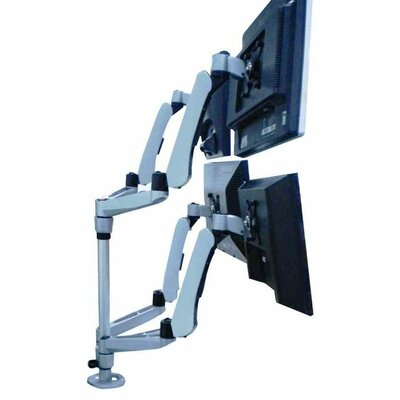 Height Adjustable 4 Screen Desk Mount Base Type: Grommet
