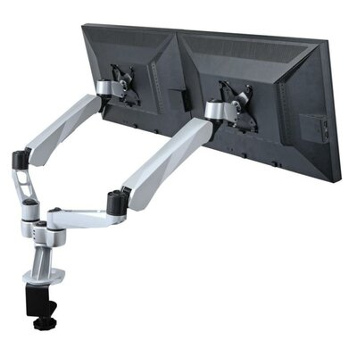 Height Adjustable 2 Screen Desk Mount Base Type: Clamp