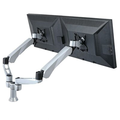 Height Adjustable 2 Screen Desk Mount Base Type: Grommet