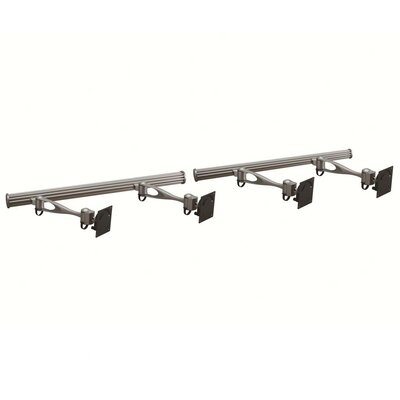Height Adjustable 4 Screen Wall Mount