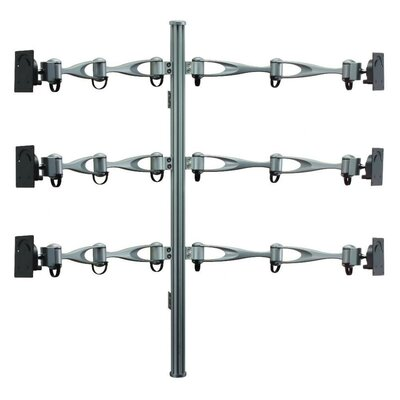 Height Adjustable 6 Screen Wall Mount