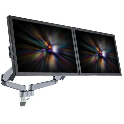 Height Adjustable 2 Screen Wall Mount