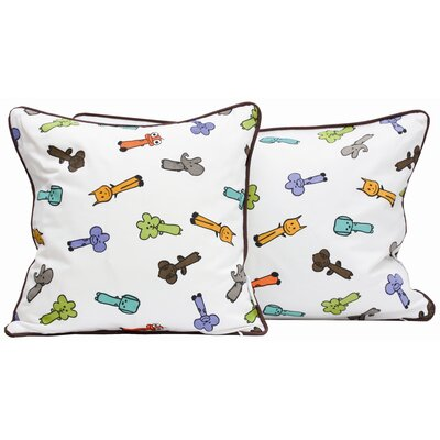 "Friends on Your Pillow Friends on Your Multi-print Cotton Throw Pillow Size: 19.7"" H x 19.7"" W MEO102"