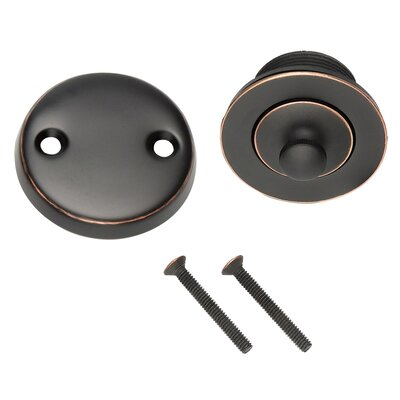 3.9 Toe Touch Bath Tub Drain Finish: Oil Rubbed Bronze
