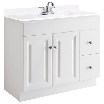 Wyndham 36 Single Bathroom Vanity Base