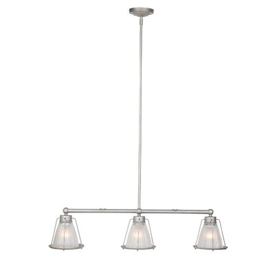 Khloe 3-Light Kitchen Island Pendant Finish: Galvanized