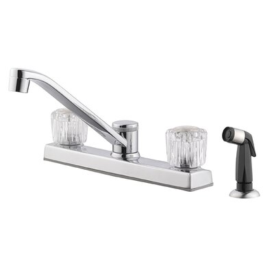 Millbridge Double Handle Centerset Kitchen Faucet with Side Spray Side Spray: With Spray