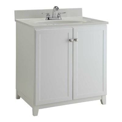30 Single Bathroom Vanity Base Base Finish: Semi Gloss White