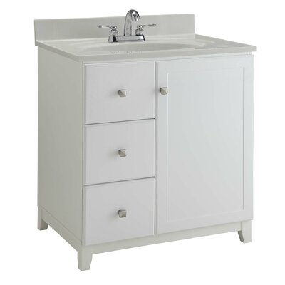 36 Single Bathroom Vanity Base Base Finish: Semi Gloss White