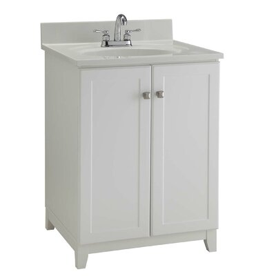 24 Single Bathroom Vanity Base Base Finish: Semi Gloss White