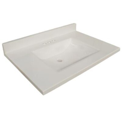 31 Single Bathroom Vanity Top Top Finish: Solid White