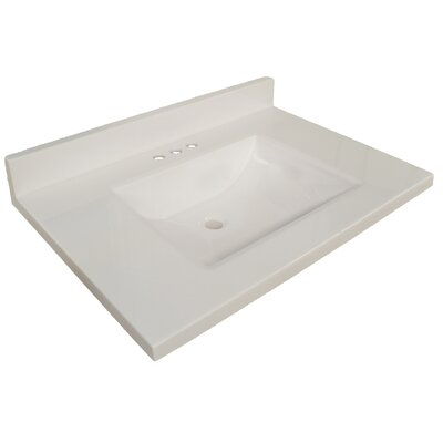 49 Single Bathroom Vanity Top Top Finish: Solid White
