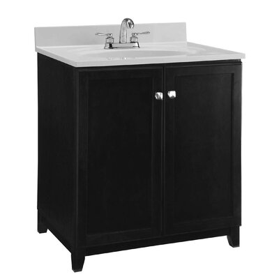 30 Single Bathroom Vanity Base Base Finish: Dark Espresso