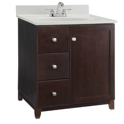 36 Single Bathroom Vanity Base Base Finish: Dark Espresso